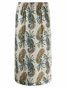 Etro paisley print midi skirt - Neutrals