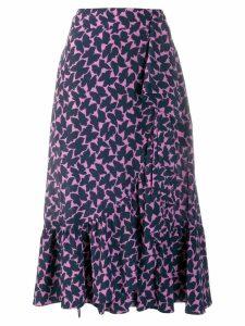 La Doublej x Mantero Jazzy printed skirt - Blue