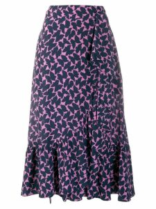 La Doublej Jazzy printed flounce skirt - Blue
