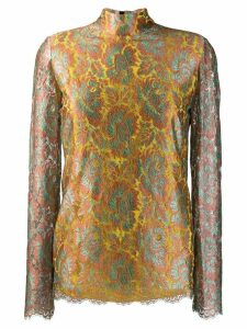 Etro floral embroidered blouse - Yellow