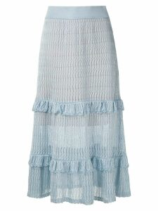 Cecilia Prado irene midi skirt - Blue
