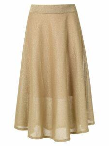 Cecilia Prado glitter midi skirt - Gold