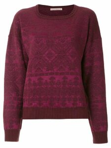 Cecilia Prado geometric pattern knitted jumper - Purple
