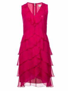 Alice+Olivia Felicita ruffle tiered midi dress - Pink