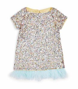 Feather Sequinned Dress