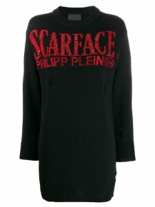 Philipp Plein 'Scarface' crystal embellished pullover - Black