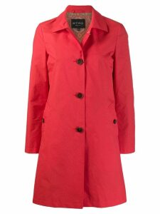 Etro single-breasted fitted coat - Red