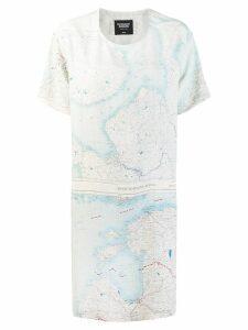 Raeburn silk Maps dress - White