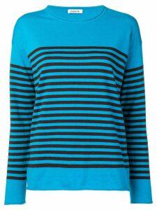 P.A.R.O.S.H. striped cashmere blend jumper - Blue