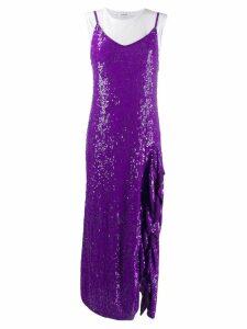 P.A.R.O.S.H. layered sequin slip dress - Purple