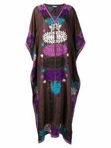 P.A.R.O.S.H. embroidered dress - Brown
