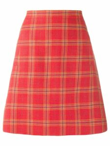 Etro plaid a-line skirt - Orange
