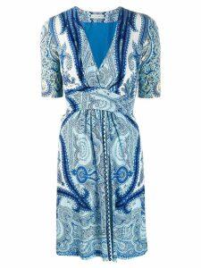 Etro paisley print dress - Blue