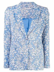 Alice+Olivia Macey floral printed blazer - Blue
