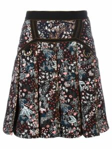Self-Portrait floral skirt - Black