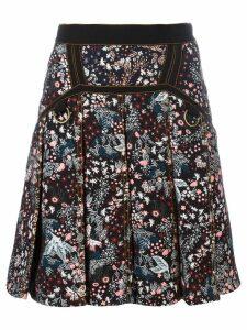 Self-Portrait floral skirt - Black