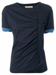 Marni gathered T-shirt - Blue