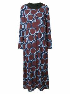Marni circle print maxi dress - Blue