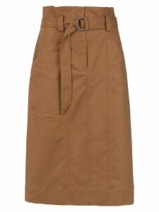 Andrea Marques clochard midi skirt - Brown