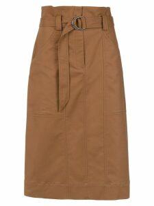 Andrea Marques clochard midi skirt - Brown