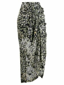 Preen By Thornton Bregazzi floral print asymmetric skirt - Blue