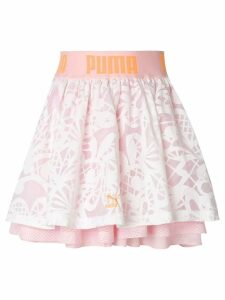 Puma X Sophia Webster patterned layered skirt - Pink