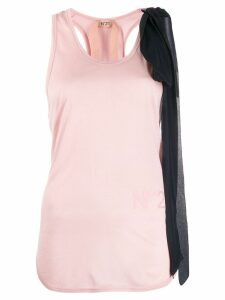 Nº21 bow detail tank top - Pink