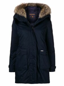Woolrich fur trim parka - Blue