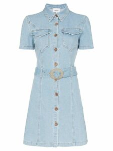 Nanushka Mora belted denim dress - Blue