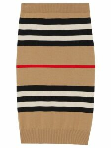 Burberry Icon stripe merino wool pencil skirt - Neutrals