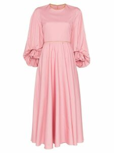Roksanda Fife balloon-sleeve midi-dress - Pink