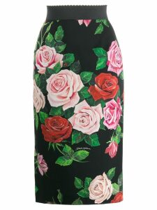 Dolce & Gabbana floral print skirt - Black