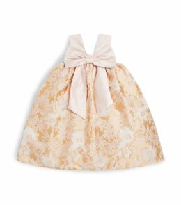 Floral Jacquard Trapeze Dress