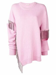 Christopher Kane crystal cutout knit - Pink