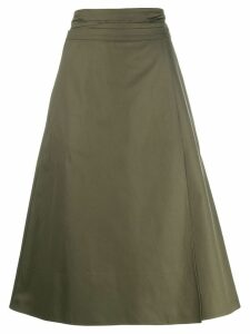 Jil Sander Navy high-waisted skirt - Green