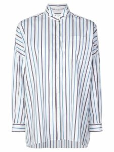Brunello Cucinelli oversized striped shirt - White