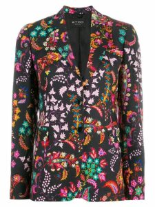 Etro printed single-breasted blazer - Black