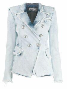 Balmain denim double-breasted blazer - Blue