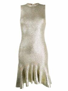 Alexander McQueen laddered knit dress - Gold