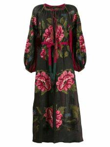 Vita Kin floral print midi dress - Black