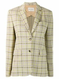 Etro check single-breasted blazer - Neutrals