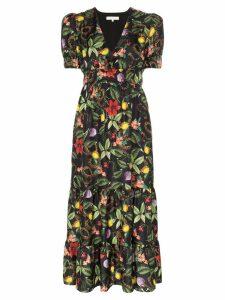 Borgo De Nor floral print maxi dress - TROPICAL GARDEN BLACK
