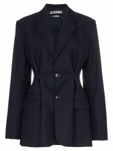 Jacquemus pinched detail blazer - Blue