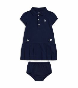 Flared Polo Dress with Bloomers