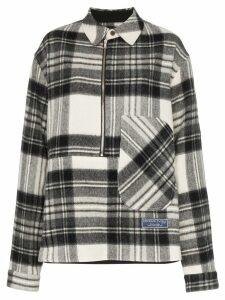 We11done check print wool shirt - Grey