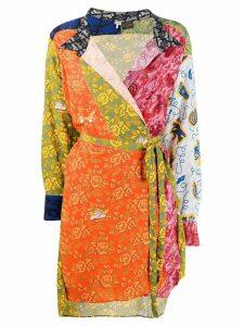 Loewe wrap front dress - Orange