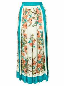 Gucci floral print pleated skirt - Neutrals