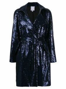 IN THE MOOD FOR LOVE Naomi sequin coat - Blue