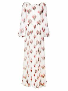 Adam Lippes floral maxi dress - White