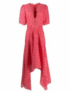 Costarellos macrame dress - Pink